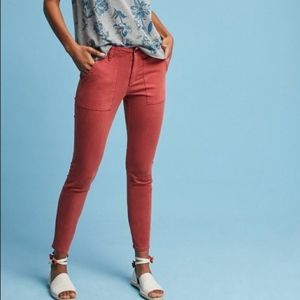 Anthropologie | Hei Hei Slim Rust Utility Jeans